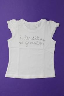 Habits pour bébé Tee-shirt manches courtes Interdit de me Gronder 12 mois Interdit de me Gronder
