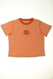 vetement enfants occasion Tee-shirt manches courtes milleraies Petit Bateau 6 ans Petit Bateau