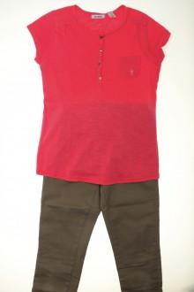 vetement d'occasion Ensemble pantalon et tee-shirt Okaïdi 10 ans Okaïdi