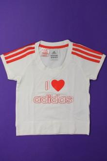 vetement occasion enfants Tee-shirt court à manches courtes Adidas 8 ans Adidas