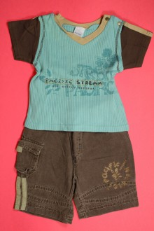 habits bébé occasion Ensemble bermuda et tee-shirt Absorba 3 mois Absorba