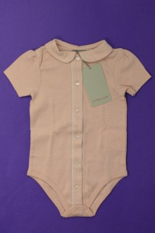 vetements d occasion bébé Body à col manches courtes - NEUF Cyrillus 9 mois Cyrillus
