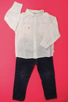 vetement d occasion enfant Ensemble jean et chemise Obaïbi 2 ans Obaïbi