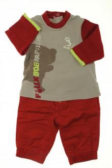Habits pour bébé occasion Ensemble pantalon et tee-shirt Orchestra 3 mois Orchestra