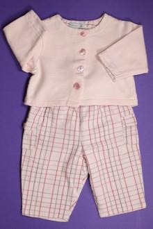 Habits pour bébé Ensemble pantalon à carreaux et gilet Natalys 3 mois Natalys