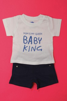 vetement bébé d occasion Ensemble short et tee-shirt Tape à l'œil 3 mois Tape à l'œil