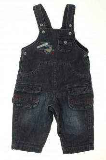 Habit d'occasion pour bébé Salopette en jean doublée Absorba 12 mois Absorba