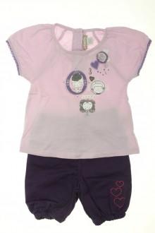 habits bébé occasion Ensemble pantacourt et tee-shirt Orchestra 9 mois Orchestra