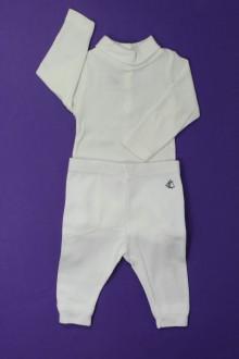 vetement bébé d occasion Ensemble body et legging Petit Bateau 3 mois Petit Bateau