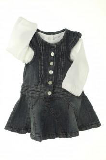Habits pour bébé occasion Ensemble robe en jean et tee-shirt Tape à l'œil 3 mois Tape à l'œil