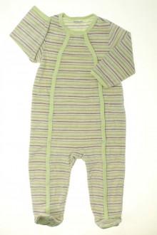 vetement bébé d occasion Pyjama/Dors-bien rayé en velours  Vertbaudet 18 mois Vertbaudet