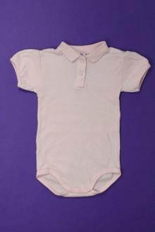 Habit de bébé d'occasion Body polo manches courtes Petit Bateau 12 mois Petit Bateau