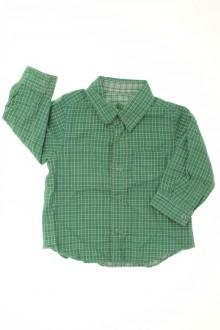 vêtements bébés Chemise à carreaux réversible Petit Bateau 6 mois Petit Bateau