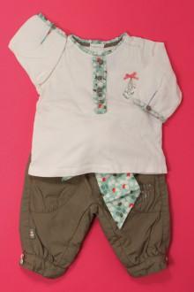 vêtements bébés Ensemble pantalon et tee-shirt Obaïbi 3 mois Obaïbi