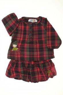 vetements d occasion bébé Ensemble blouse et jupe à carreaux La Compagnie des Petits 3 mois La Compagnie des Petits