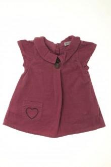 vêtements bébés Robe en velours fin Grain de Blé 3 mois Grain de Blé