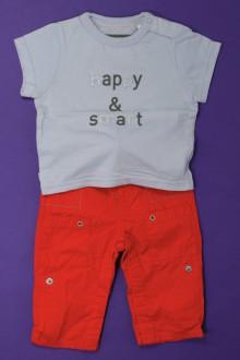 vetements d occasion bébé Ensemble pantalon et tee-shirt Obaïbi 3 mois Obaïbi