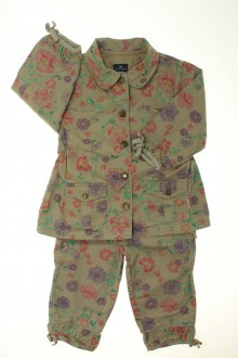 habits bébé Ensemble veste et pantalon fleuris Sergent Major 18 mois Sergent Major