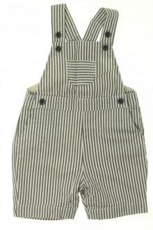 habits bébé Salopette courte rayée Cyrillus 6 mois Cyrillus