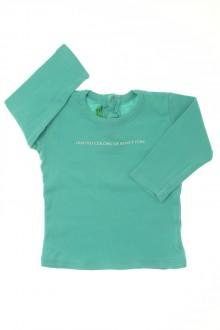 Habit de bébé d'occasion Tee-shirt manches longues Benetton 6 mois Benetton