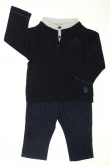 vetements d occasion bébé Ensemble pantalon rayé et pull Obaïbi 6 mois Obaïbi