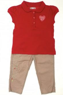 vêtements bébés Ensemble pantalon et polo DPAM 18 mois DPAM