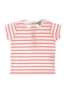habits bébé Tee-shirt manches courtes rayé Grain de Blé 3 mois Grain de Blé