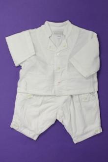 Habit d'occasion pour bébé Ensemble pantalon et chemise Jean Bourget 1 mois Jean Bourget