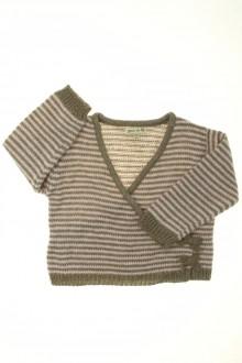 vêtements bébés Cache-cœur rayé Grain de Blé 18 mois Grain de Blé