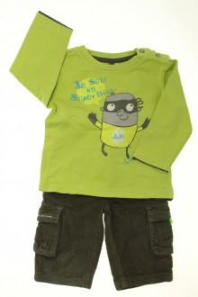 Habits pour bébé Ensemble pantalon en velours et tee-shirt Orchestra 9 mois Orchestra