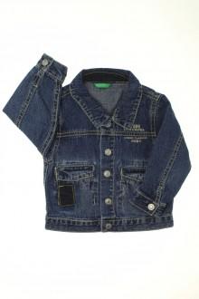 Habits pour bébé occasion Veste en jean Benetton 12 mois Benetton