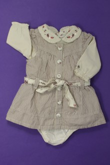 habits bébé occasion Ensemble robe, tee-shirt et bloomer Sergent Major 3 mois Sergent Major