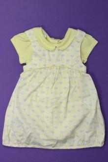 Habits pour bébé Ensemble robe et body Obaïbi 3 mois Obaïbi
