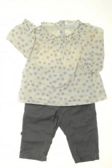 vetements d occasion bébé Ensemble pantalon et blouse Obaïbi 3 mois Obaïbi