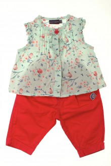 Habits pour bébé occasion Ensemble pantalon et blouse Sergent Major 3 mois Sergent Major