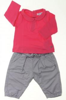 habits bébé Ensemble pantalon et tee-shirt Obaïbi 3 mois Obaïbi