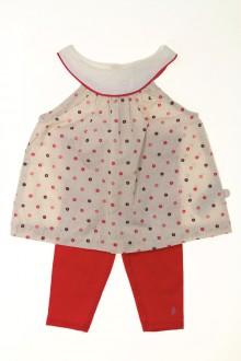 vetements d occasion bébé Ensemble robe et legging Obaïbi 3 mois Obaïbi