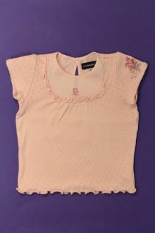 vetement bébé d occasion Tee-shirt manches courtes ajouré Jean Bourget 18 mois Jean Bourget