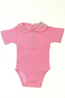vetements d occasion bébé Body manches courtes à col Grain de Blé 3 mois Grain de Blé
