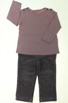 vetement bébé d occasion Ensemble pantalon en velours et tee-shirt Bout'Chou 18 mois Bout'Chou