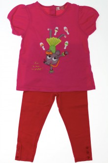 vetements enfants d occasion Ensemble tee-shirt et legging DPAM 2 ans DPAM