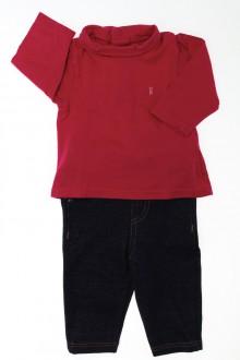 vêtements bébés Ensemble tregging et sous-pull Obaïbi 3 mois Obaïbi