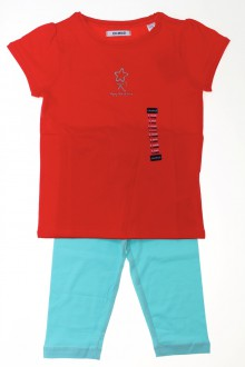 vêtements enfants occasion Ensemble tee-shirt et legging - NEUF Okaïdi 5 ans Okaïdi
