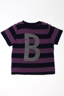 Habits pour bébé occasion Tee-shirt manches courtes à rayures Bout'Chou 18 mois Bout'Chou