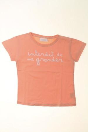 Tee-shirt manches courtes Interdit de me Gronder Fille 6 ans d ... 5ce32b5feae