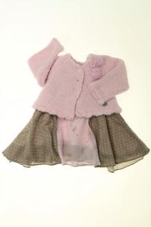 habits bébé Ensemble robe et gilet Absorba 3 mois Absorba