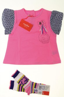 Habit de bébé d'occasion Ensemble tee-shirt et chaussettes - NEUF Marèse 18 mois Marèse