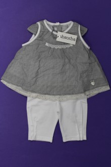 habits bébé Ensemble blouse et legging - NEUF Absorba 9 mois Absorba