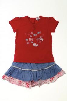 Habit d'occasion pour bébé Ensemble jupe et tee-shirt Absorba 18 mois Absorba