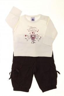 Habit de bébé d'occasion Ensemble pantalon et tee-shirt Petit Bateau 3 mois Petit Bateau